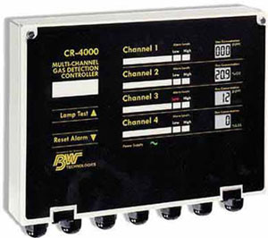 加拿大BW RRJ-4000四通道气体接收控制器(不锈钢)